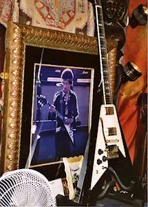Jimi Hendrix gitarr på Hard Rock Café i London